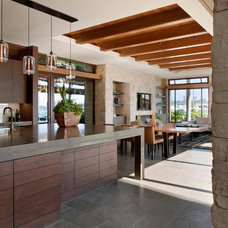 Contemporary Kitchen by Rosemarie Allaire Lighting Design