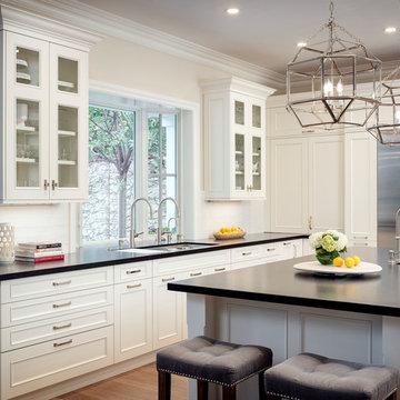 Newport Beach White Traditional Kitchen