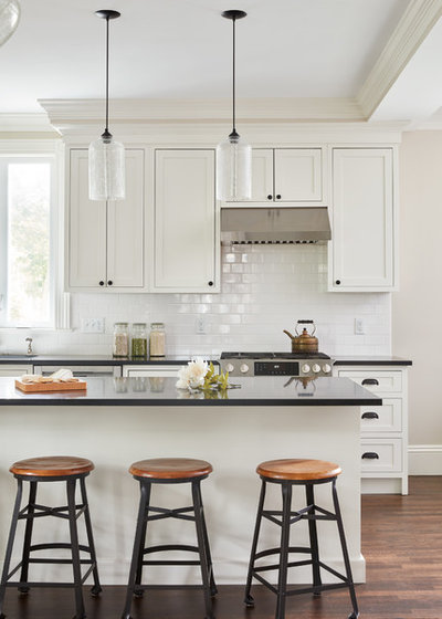 Transitional Kitchen by Sarah C. Interiors