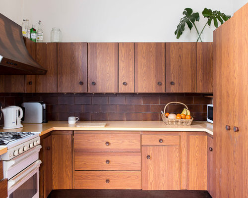 This Is An Example Of A Tropical U Shaped Kitchen In Sydney With Flat  Part 71