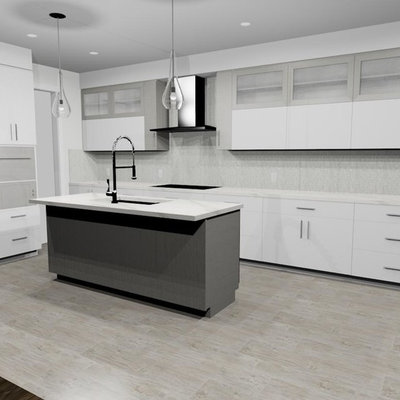 Inspiration for a mid-sized modern kitchen remodel in Toronto
