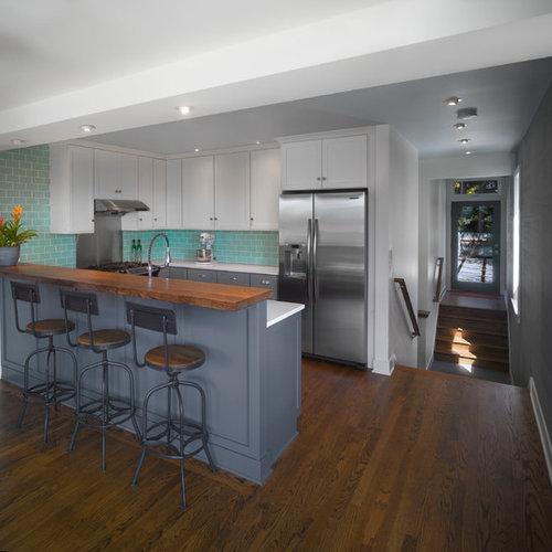 Ideas para cocinas dise os de cocinas con salpicadero de - Tamano azulejos cocina ...