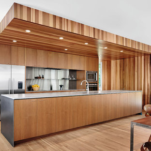 Nick Deaver House Timber-Clad Kitchen