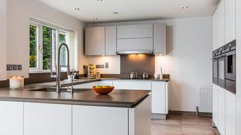 Nobilia Handless White & Sand Matt finish Kitchen with perfect storage solutions