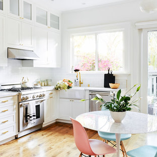 White Subway Tile Backsplash Ideas Houzz