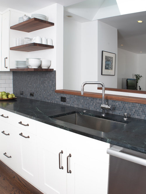 Houzz Penny Tile Backsplash Design Ideas Amp Remodel Pictures