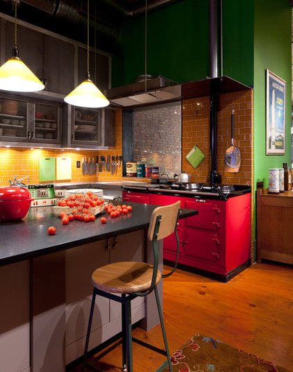 Industrial Kitchen by Wettling Architects