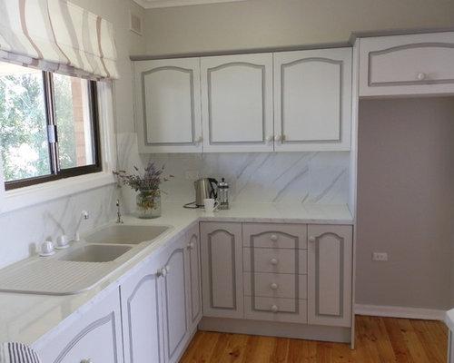 cuisine romantique avec un vier 2 bacs photos et id es. Black Bedroom Furniture Sets. Home Design Ideas