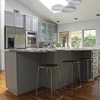 Menlo Park Grey Kitchen - Contemporary - Kitchen - San ...