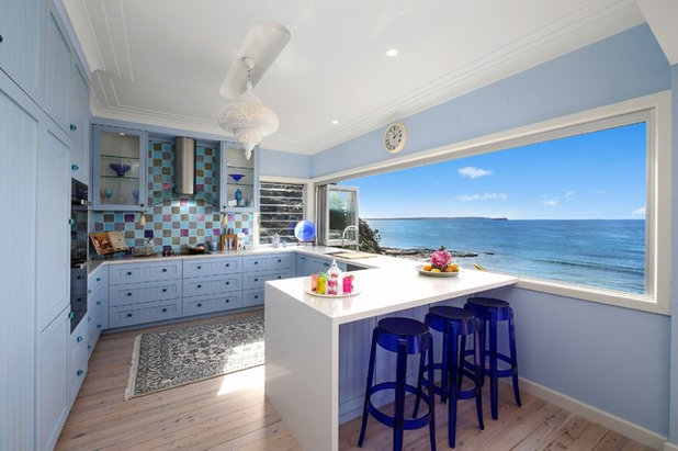 Beach Style Kitchen by Chosen Photography
