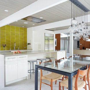 Midcentury Modern Open Concept Kitchen Ideas 1950s Galley