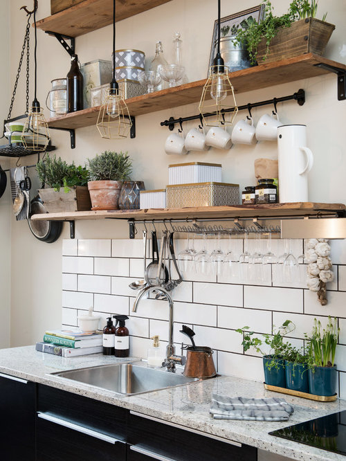 Nice Rustic Kitchen Ideas Part - 6: Small Rustic Kitchen Ideas - Kitchen - Small Rustic Single-wall Kitchen  Idea In Gothenburg