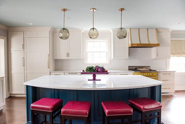 Transitional Kitchen by Ashley DeLapp Interior Design