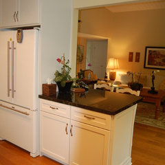 eclectic kitchen by Laurie Burke