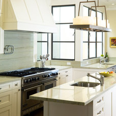 Transitional Kitchen by New Marble Company Inc.