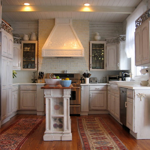 shabby chic kitchen furniture. midsized contemporary ushaped light wood floor eatin kitchen idea in shabby chic furniture r