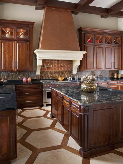 Brown Backsplash Home Design Ideas Pictures Remodel And
