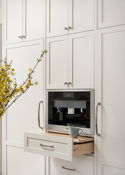 Transitional Kitchen by Plain and Posh