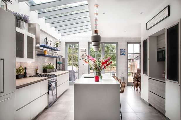 Transitional Kitchen by Philip Raymond Photography