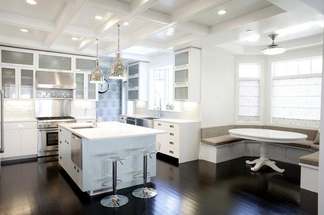 Transitional Kitchen by 360 design studio