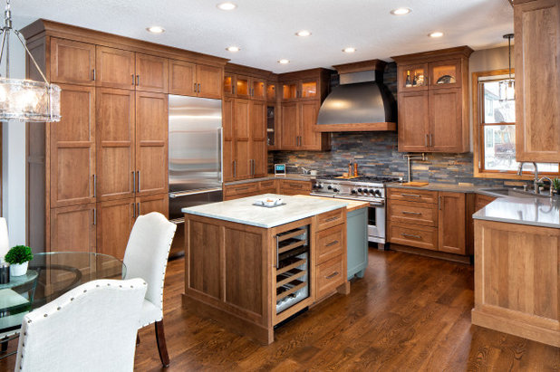 Transitional Kitchen by Michels Homes