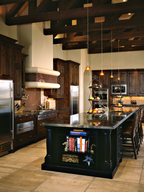 Dark Wood Cabinets Houzz