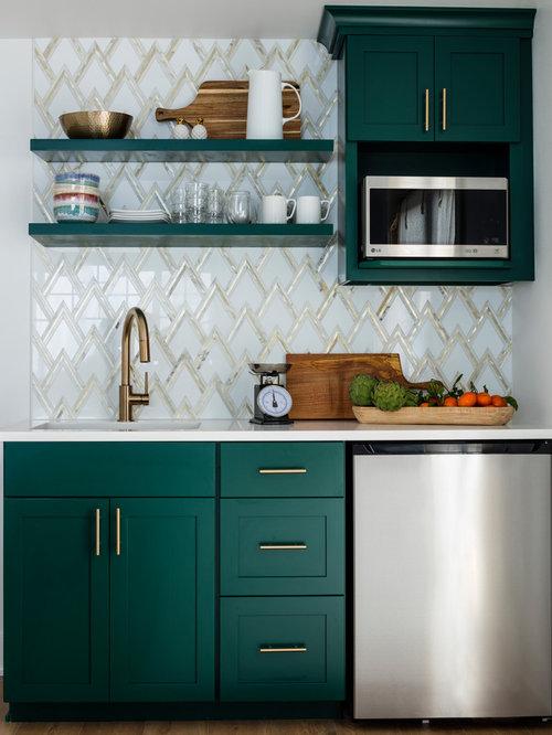 Küchen mit Rückwand aus Marmor und Laminat Ideen, Design & Bilder ...