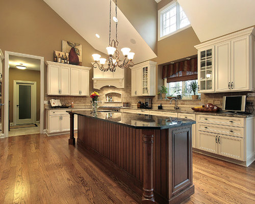 Example Of A Classic Kitchen Design In Chicago With Recessed Panel Cabinets,  White Cabinets