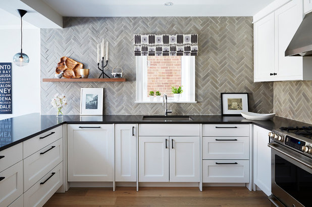 Transitional Kitchen by Kate Dickson Design