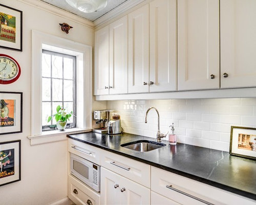 subway tile white grout | houzz