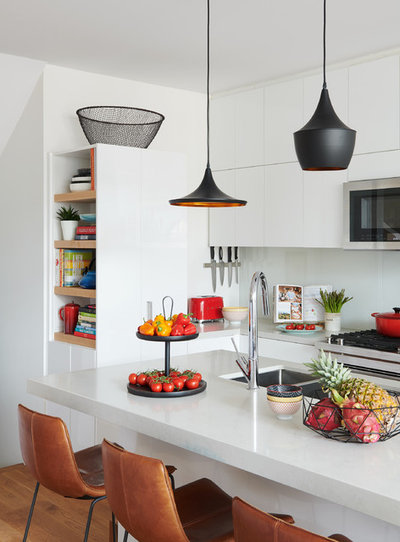 Contemporary Kitchen by Lisa Lev Design