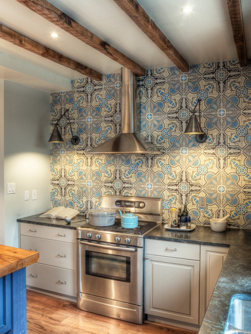 Kitchen Island Wall Tile Home Design Ideas, Pictures ...