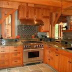 Weathered Wood Kitchen Island Rustic Kitchen San