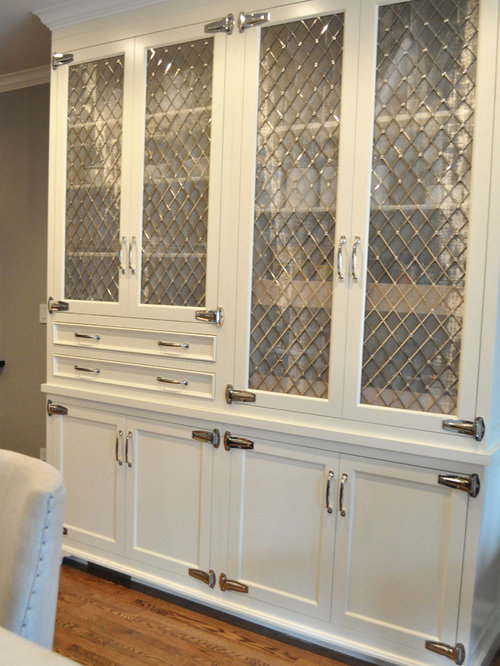 Nickel Diamond Mesh Cabinet Inserts Home Design Ideas, Pictures, Remodel and Decor