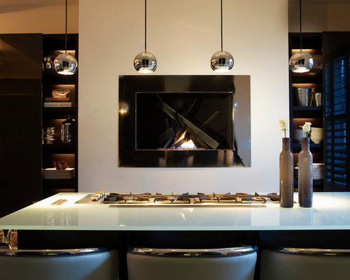 Countertop Fireplace   Houzz