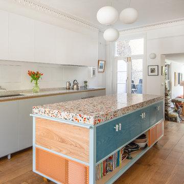 Nougat inspired terrazzo kitchen