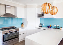 what product and finish did you use for the countertop?