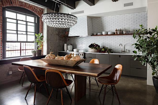 Industrial Kitchen by Jessica Helgerson Interior Design