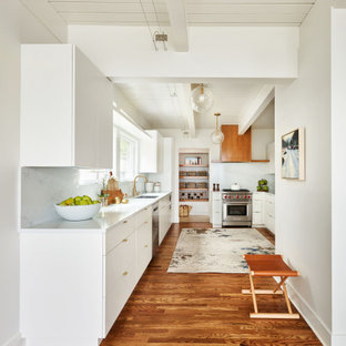 This is an example of a midcentury kitchen in Portland.