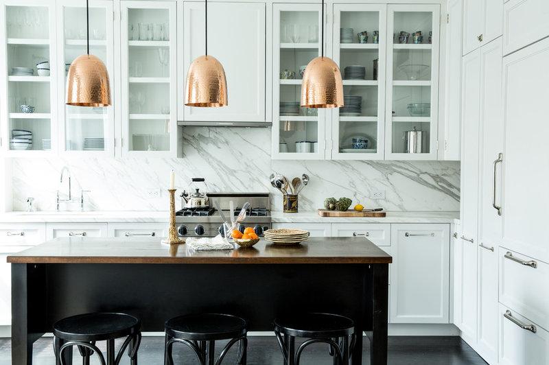 Transitional Kitchen NYC Condo