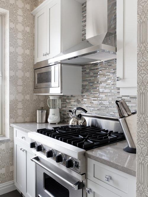 Small kitchen backsplash houzz for Houzz small kitchens