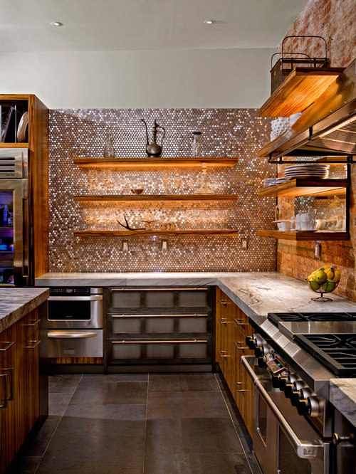 Copper Penny Tile Ideas Pictures Remodel And Decor