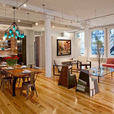 Open concept kitchen - contemporary open concept kitchen idea in Philadelphia