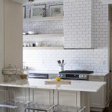 Transitional Kitchen by Lauren Rubin Architecture