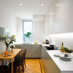 Modern kitchen remodeling - Inspiration for a modern kitchen remodel in New York