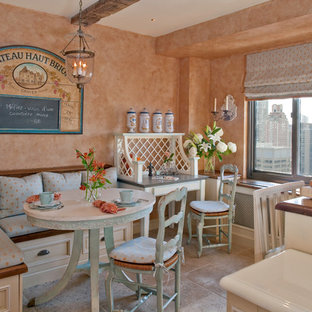 Traditional eat-in kitchen appliance - Inspiration for a timeless eat-in kitchen remodel in New York