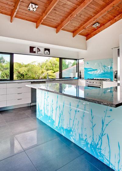 コンテンポラリー キッチン by Lucy G Printed Image Splashbacks