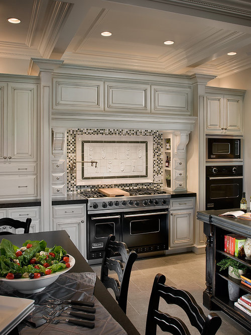 Elegant Kitchen Photo In Phoenix With Black Appliances