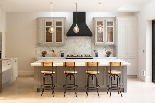 Transitional Kitchen by Hughes Developments