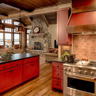 75 most popular rustic red kitchen design ideas for 2019 stylish rh houzz com